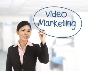 Business Woman Highlighting Video Marketing