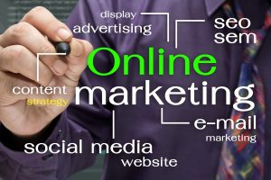Online Marketing Plan Drawn On Screen
