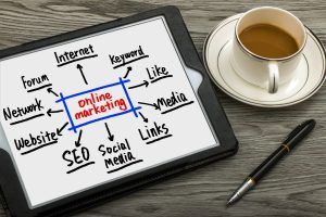 Online Marketing Plan On Computer Screen